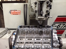 Rottler 4-axis CNC, machining Top Doorslammer block for 1